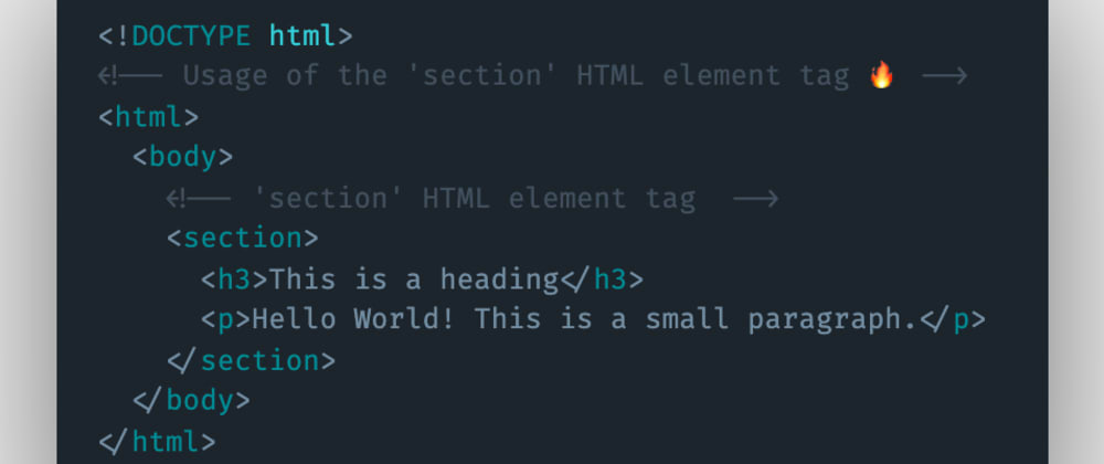 Cover image for Which HTML element tag can be used to represent and show sections or standalone content to the user?