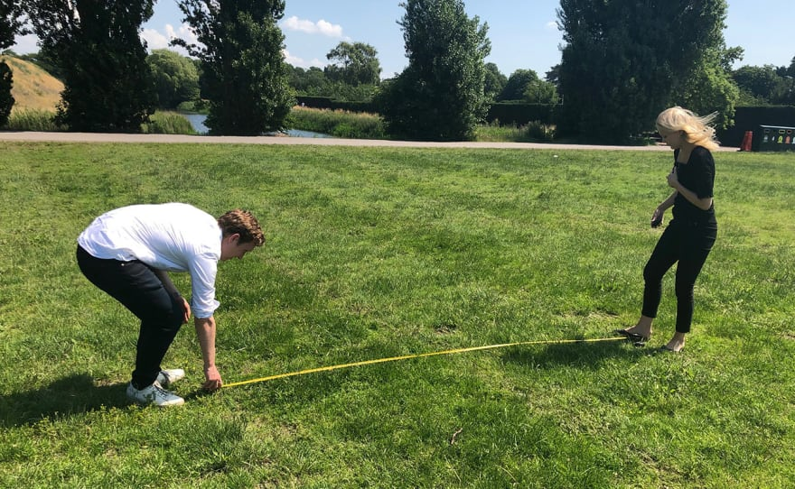 Measuring the area