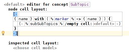 SubTopic editor