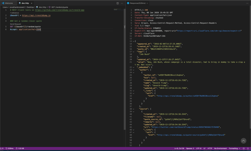 doc.http response preview into VS Code