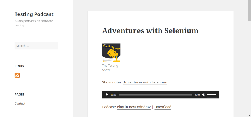 Adventures With Selenium