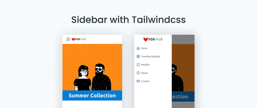 Cover image for Making a Navigation Drawer/Sliding Sidebar with TailwindCSS (Blueprint)
