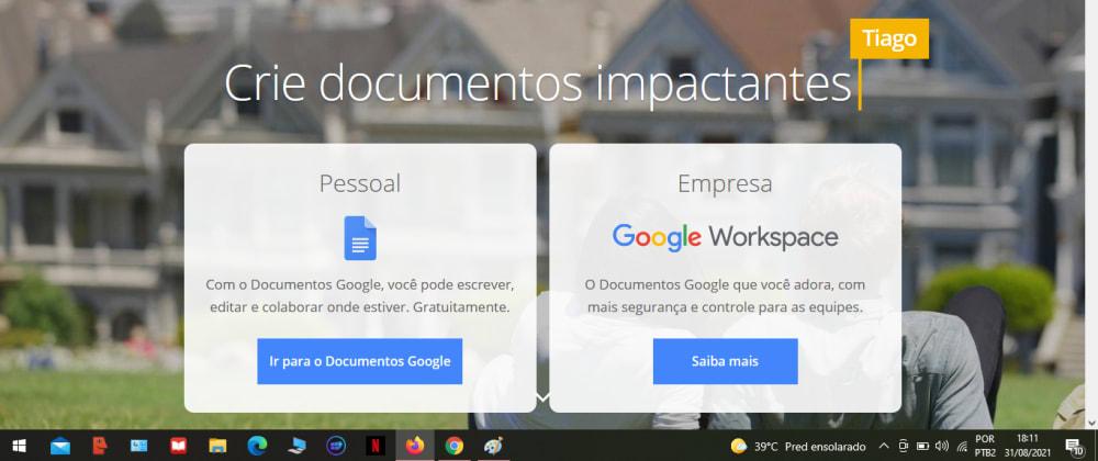 Cover image for [Tutorial] Como criar um documento no Google Docs