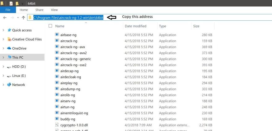 Copy the directory address.jpg
