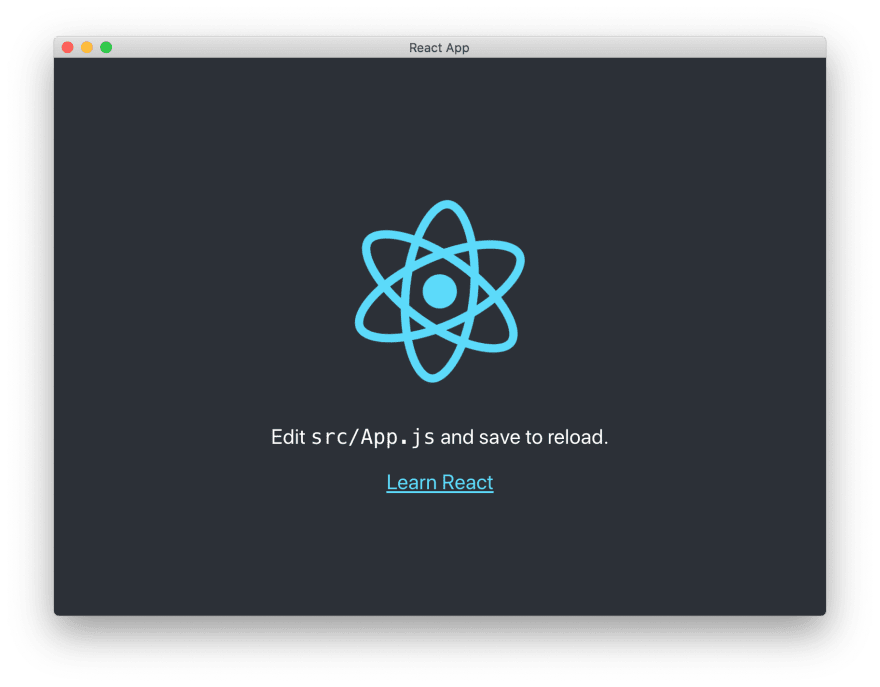 Create React App running inside of an Electron window