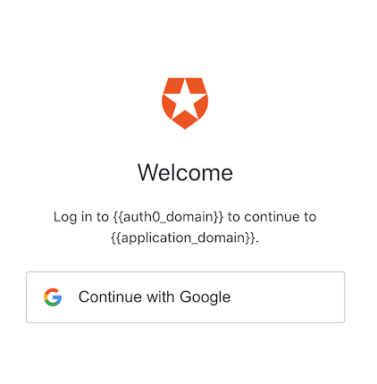 Auth0 screen