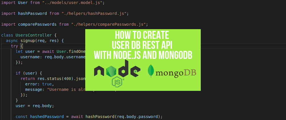 Cover image for Users Database with Login and Signup Functions from Scratch (Node.js, MongoDB)