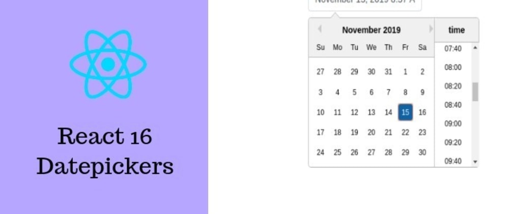 Cover image for React 16 Datepicker Example with react-datepicker