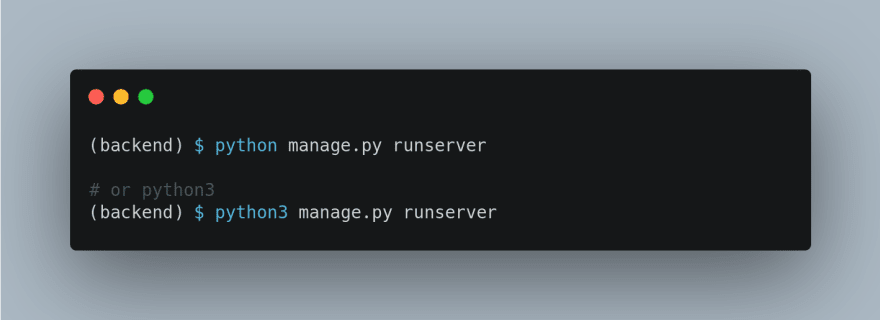 run server