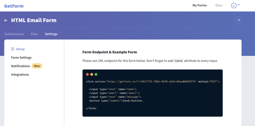 HTML Email Form