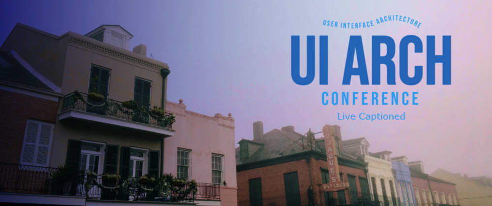 Cover image for UI Architecture Conf coming in April!
