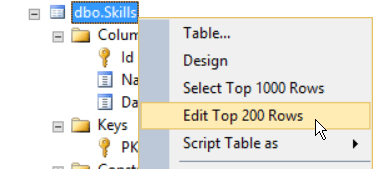 Edit Top 200 Rows