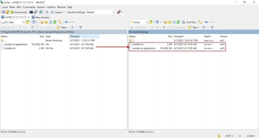 WinSCP_destinationtransferred