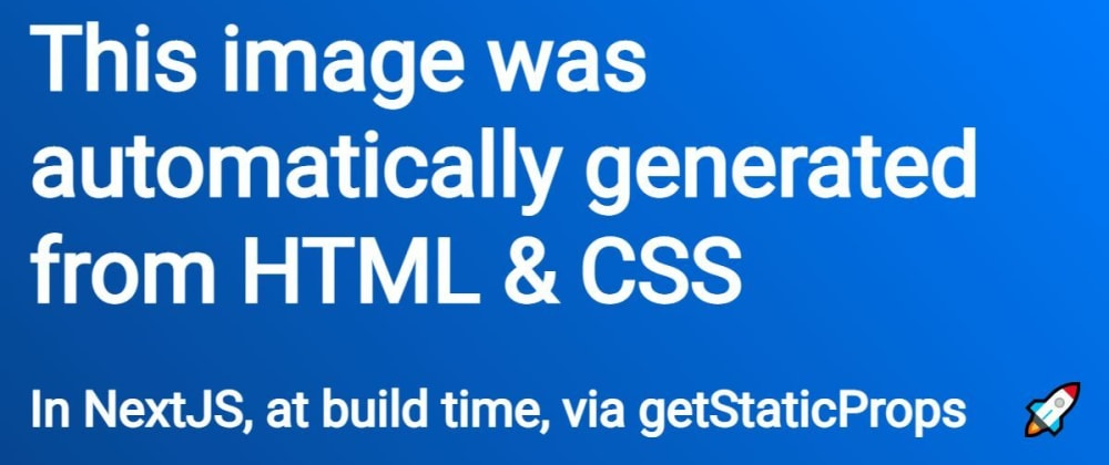 Cover image for Static, automated social images with NextJS