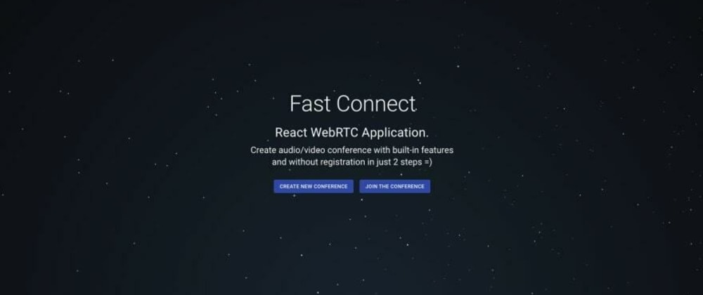 Cover image for Fast Connect - Standalone React WebRTC Application