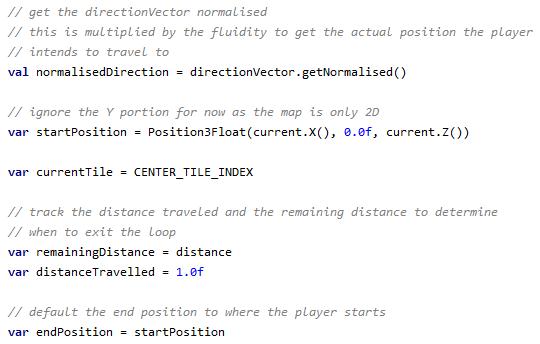 Setup code