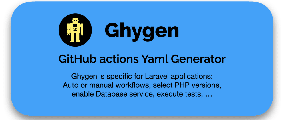 Cover image for GHYGEN: GitHub Actions Yaml Generator
