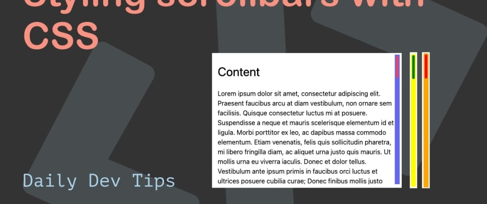 Cover image for Styling scrollbars with CSS
