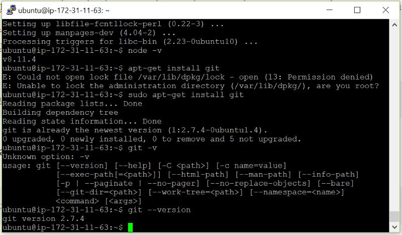 Instalamos la versión 2.7.4 de Git
