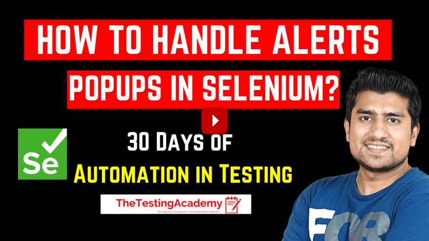 Selenium alerts