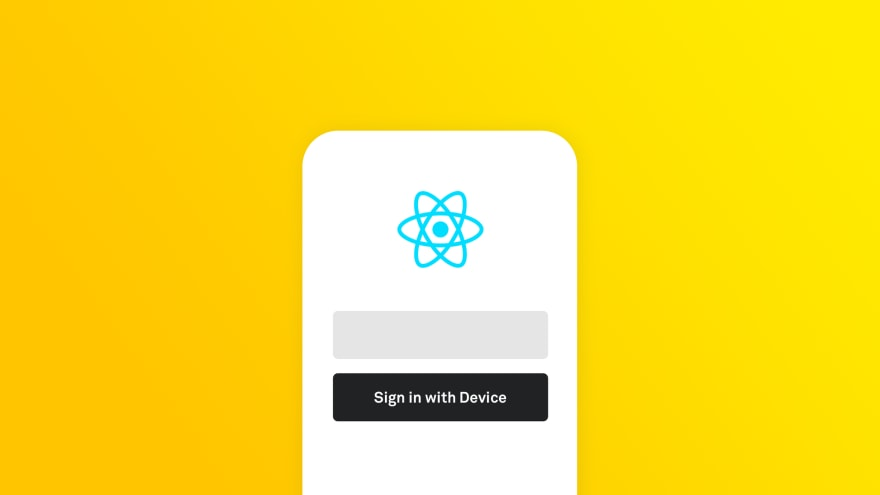 Say Goodbye To Passwords: The Easy Way to Add Sign In With Device to Your React Native App in 5 Minutes