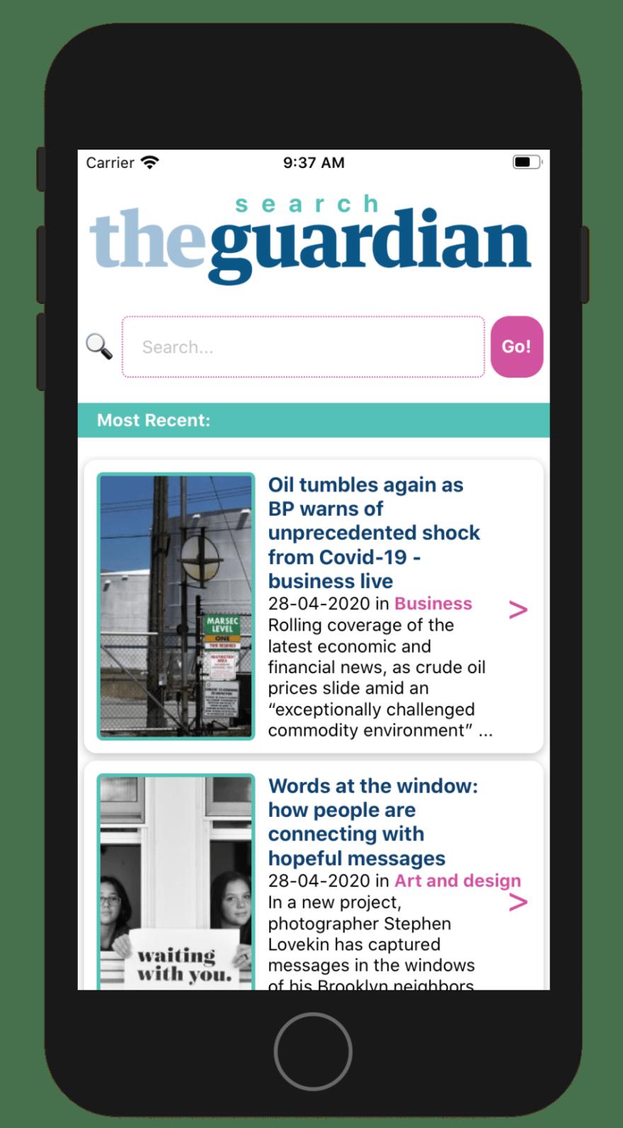 Guardian Search App