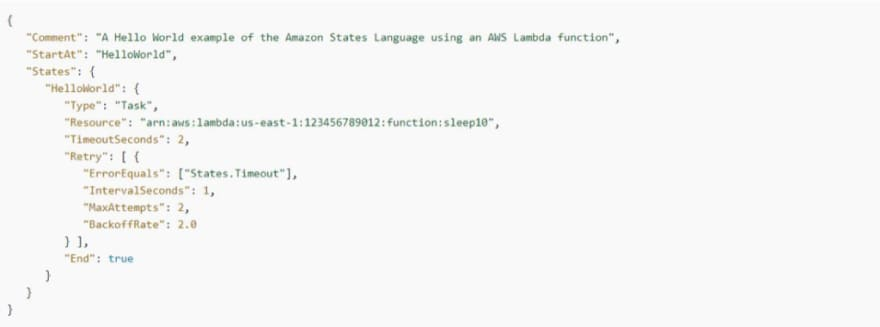 AWS Step Functions: Timeout Retry example