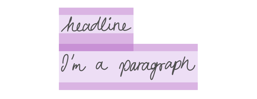 A headline and paragraph with margin