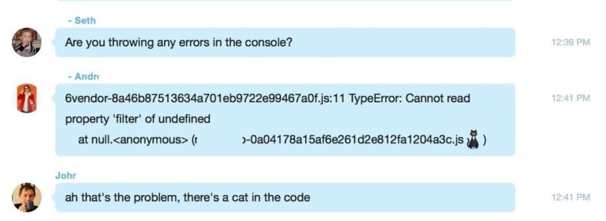 There's a cat in the code