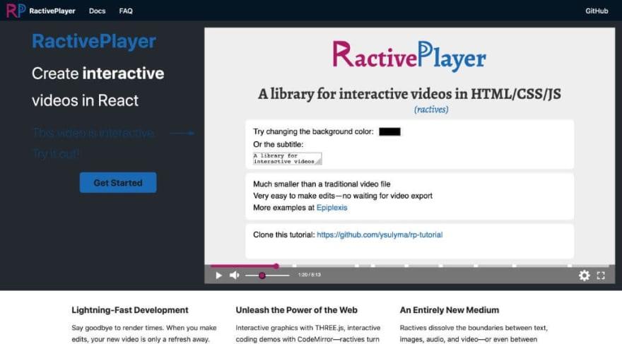 RactivePlayer