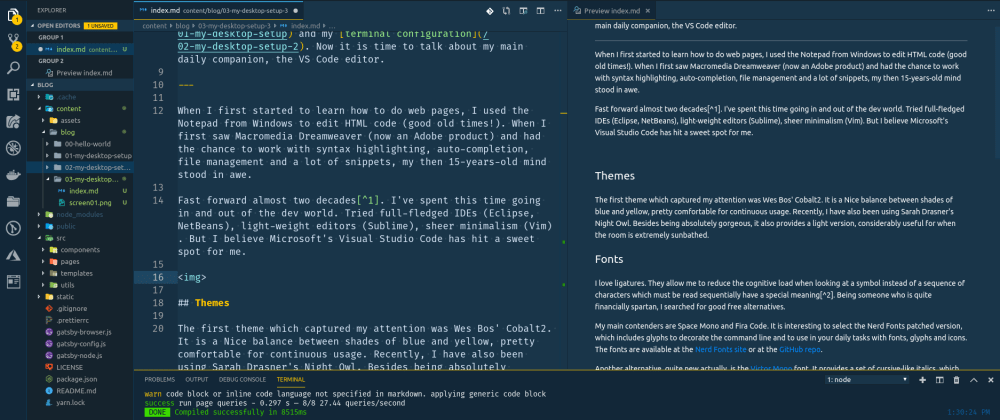 Cover image for My desktop setup - Part 3: The VS Code