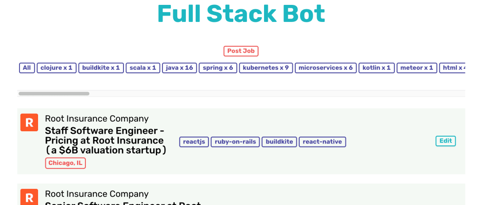 Cover image for Adding new features to my open source (React + Django) job board