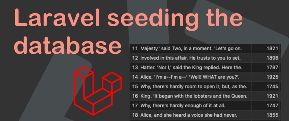 Cover image for Laravel seeding the database