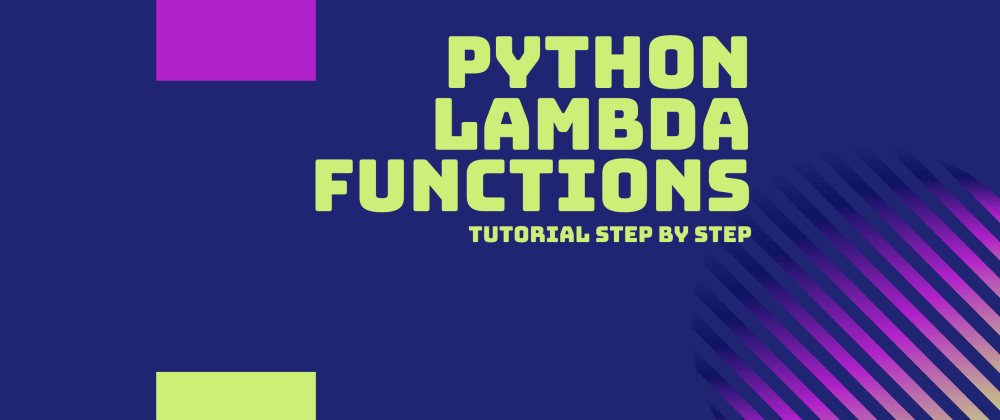 Cover image for Lambda functions in Python