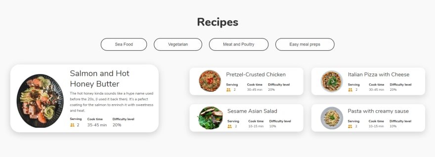 Recipe-section