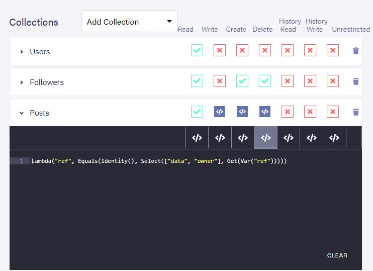 Dashboard: Default predicate function for delete privileges