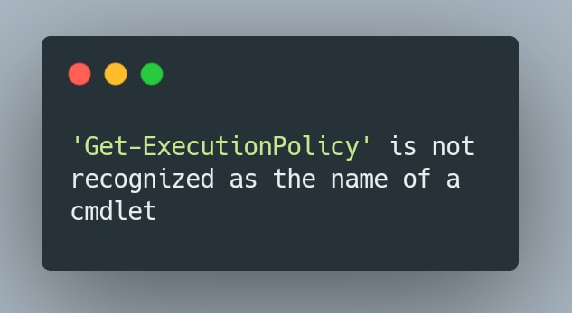 Get-Execution error