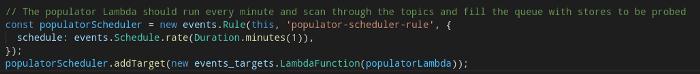 TypeScript / CDK / EventBridge