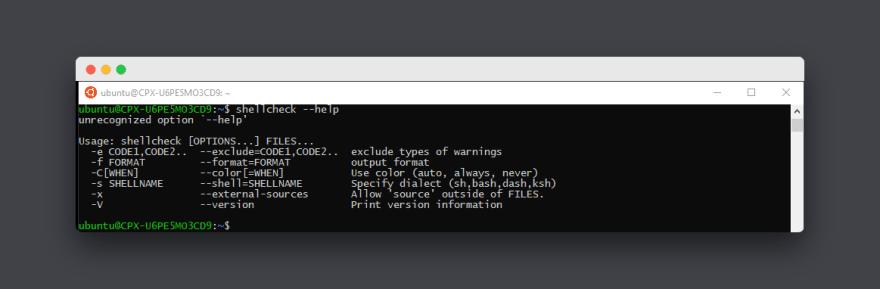 Using `shellcheck` to lint your bash/sh scripts  - DEV Community