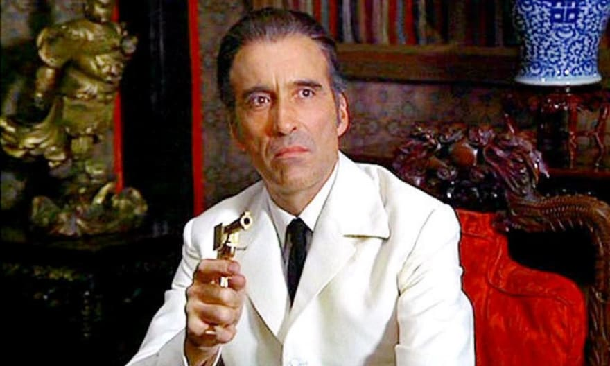 Christopher Lee as Francisco Scaramanga in The Man with the Golden Gun