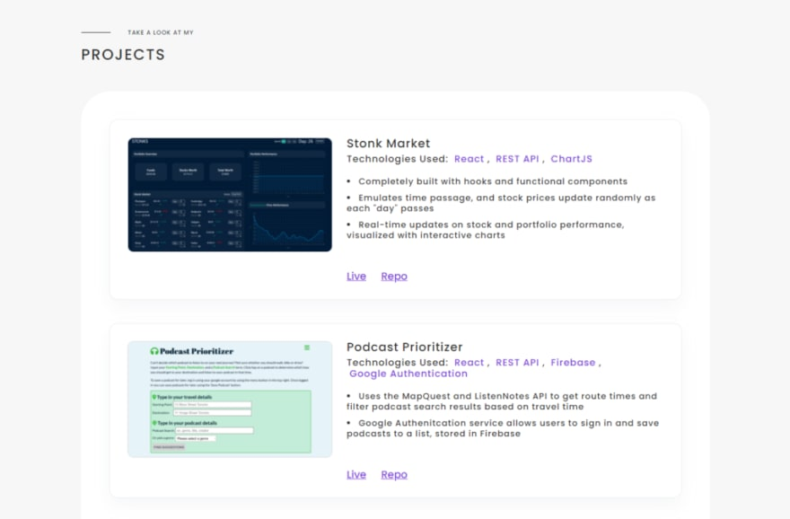 Alex Calia's developer portfolio