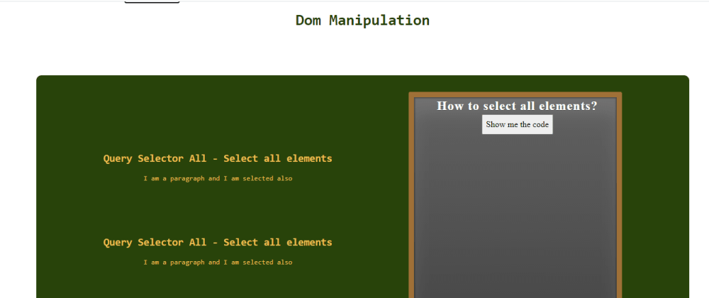 Cover image for Dom Manipulation with 3 examples