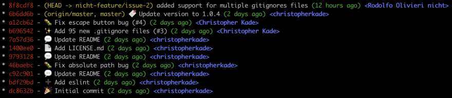 git log screenshot 2