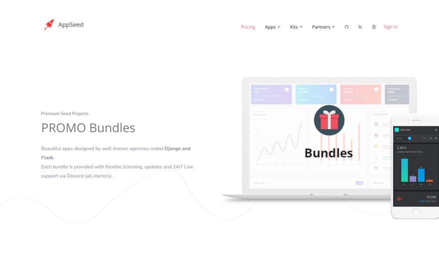 AppSeed – UI Kits and Dashboards – 60% OFF