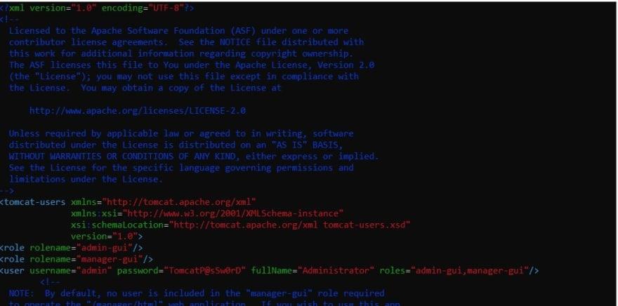 Tomcat Users xml Updated