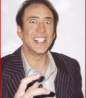 Nic Cage looking crazy.