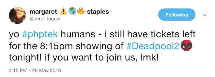 Margaret Staples Tweet
