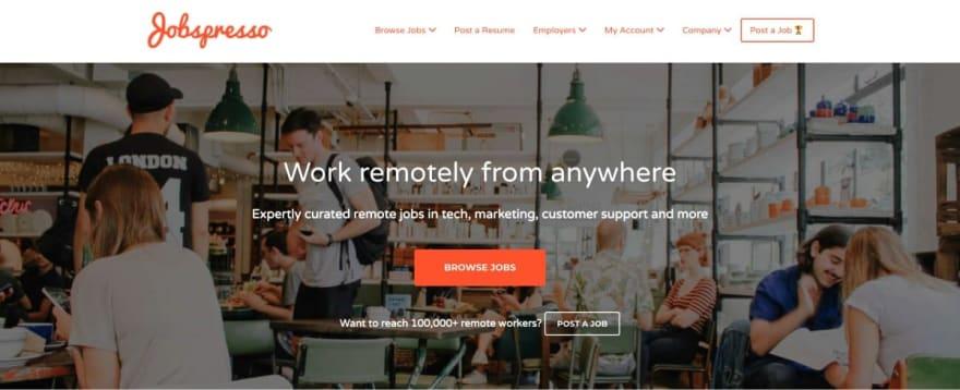 Jobspresso website