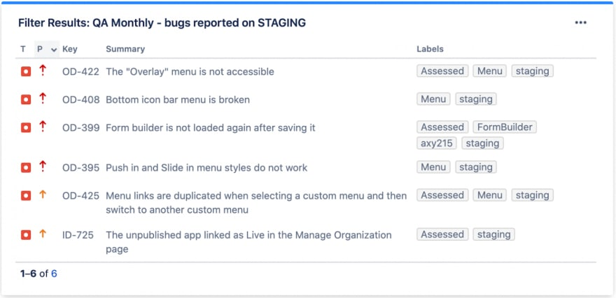 QA: Bugs reported on staging