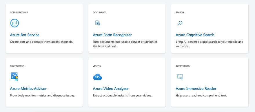 Azure Applied AI Services